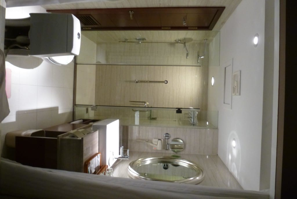 bild bad mit glaswand zimmer 310 zu park hotel in guilin. Black Bedroom Furniture Sets. Home Design Ideas