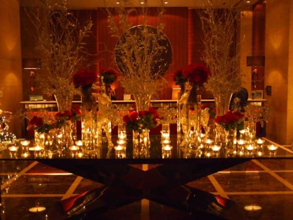 bild lobby deko weihnachten zu hotel grosvenor house in. Black Bedroom Furniture Sets. Home Design Ideas