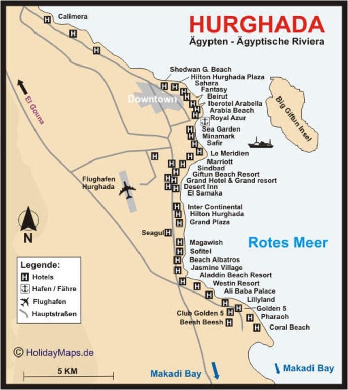 Karte Von ägypten.Bild Hurghada Karte Zu Hurghada Safaga In Hurghada Safaga