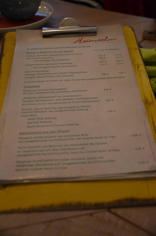 Bild Speisekarte Zu Restaurant Heimatlon In Steinbach Hallenberg