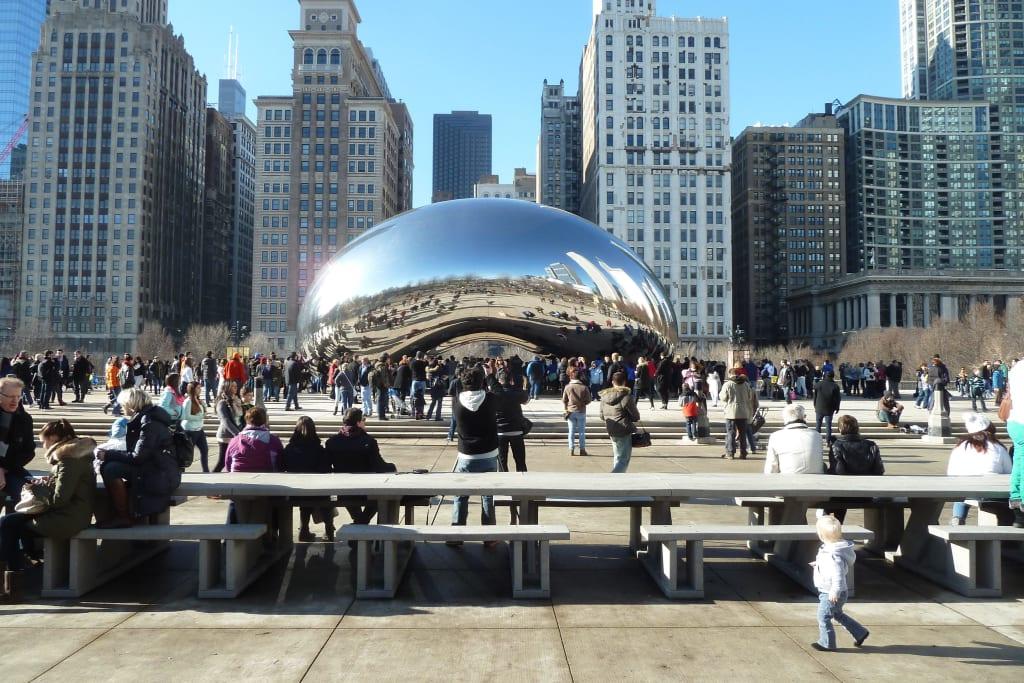 Chicago Bilder bild wahrzeichen chicago zu cloud gate in chicago