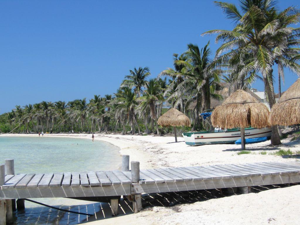 bild strand sonne und das meer zu isla contoy in cancun. Black Bedroom Furniture Sets. Home Design Ideas