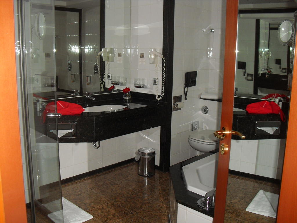 bild badezimmer zu hotel m ggelsee berlin in berlin treptow k penick. Black Bedroom Furniture Sets. Home Design Ideas