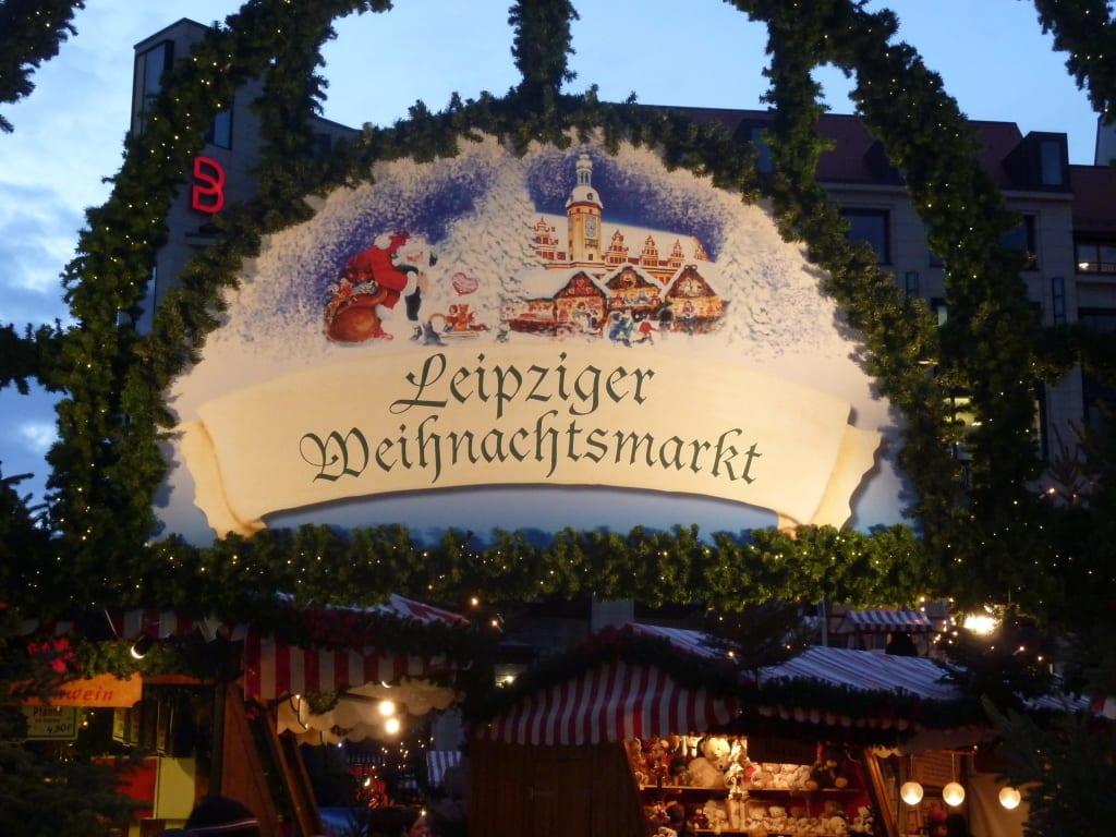 Leipziger Weihnachtsmarkt.Bild Eingang Leipziger Weihnachtsmarkt Zu Weihnachtsmarkt