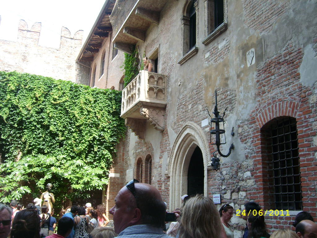 Bild Balkon Von Romeo Und Julia Zu Julias Balkon Haus In Verona