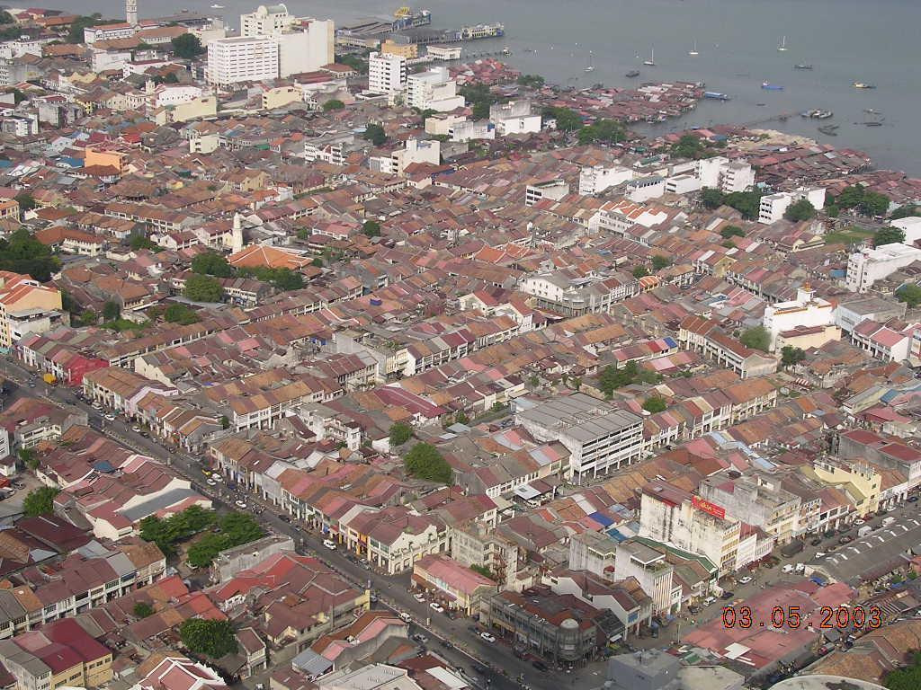 Blick auf George Town vom Komtar aus. Bilder Stadt/Ort George Town