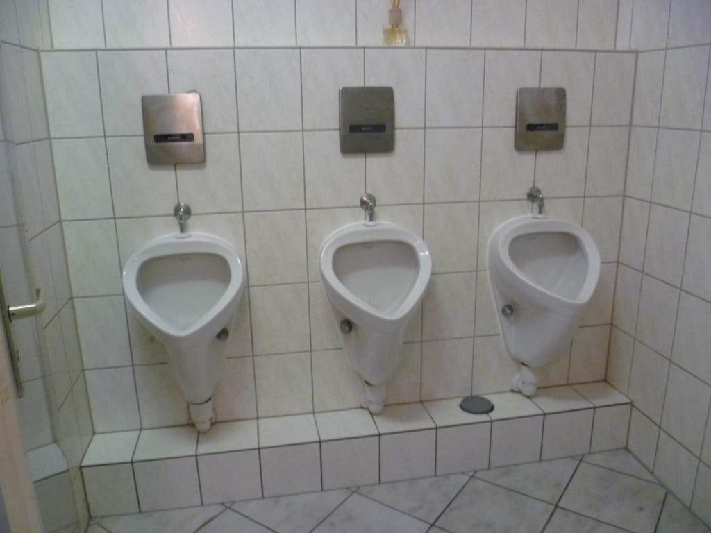 bild saubere toiletten der gastst tte i zu hotel deutsches haus in kaub. Black Bedroom Furniture Sets. Home Design Ideas