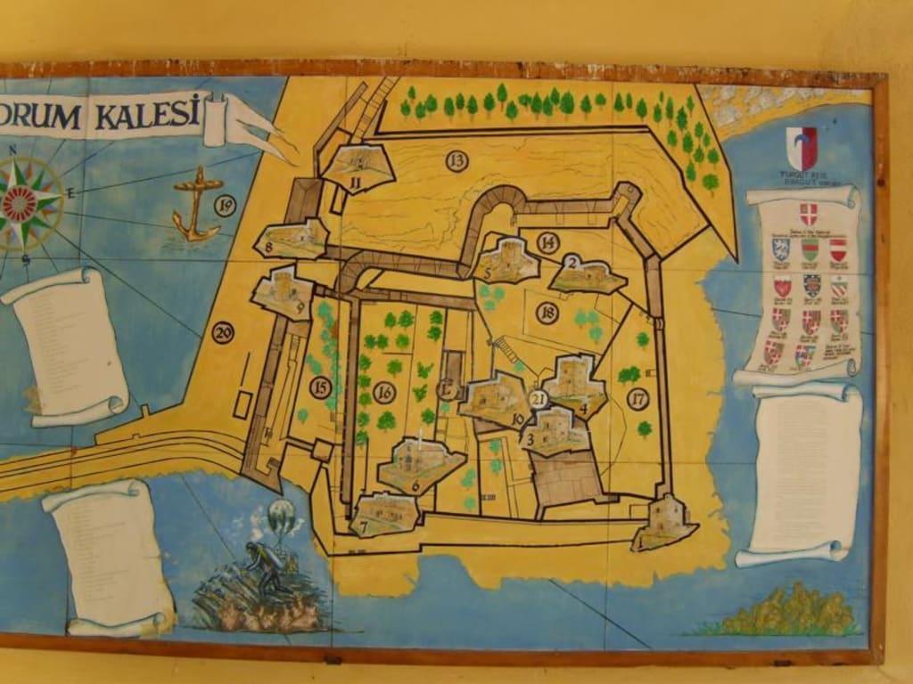 Bodrum Karte.Bild Karte Bodrum Kastell Zu Kastell Von Bodrum In Bodrum