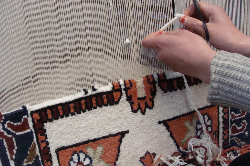Teppich knüpfen  Bild
