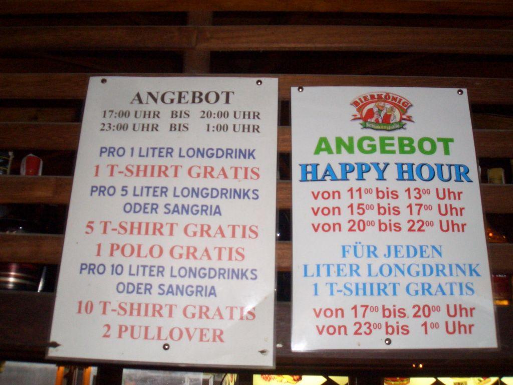 Bierkönig Getränkepreise