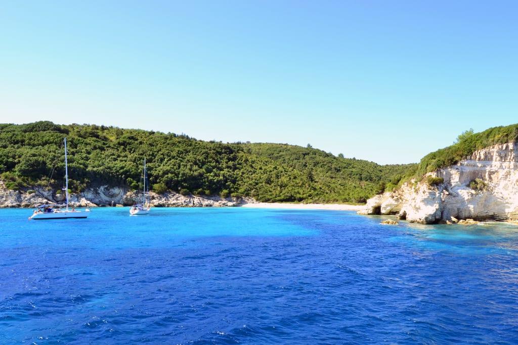 Bild Strand Von Antipaxos Zu Kleine Griechische Inseln In Kleine