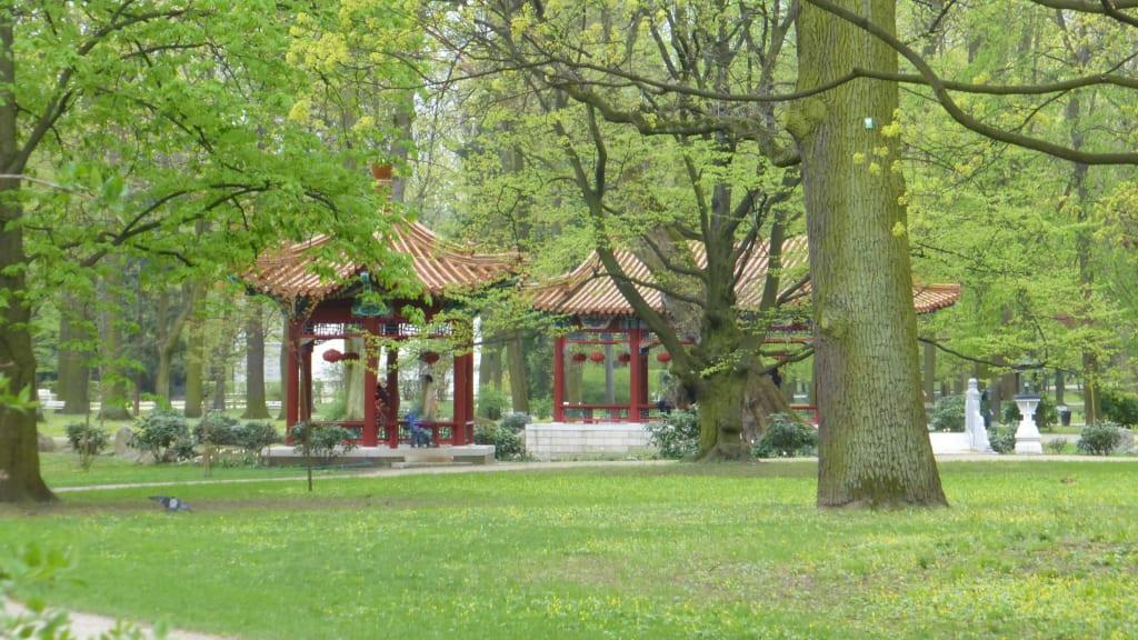 Bild Chinesischer Garten Spielplatz Zu Lazienki Park Park Der