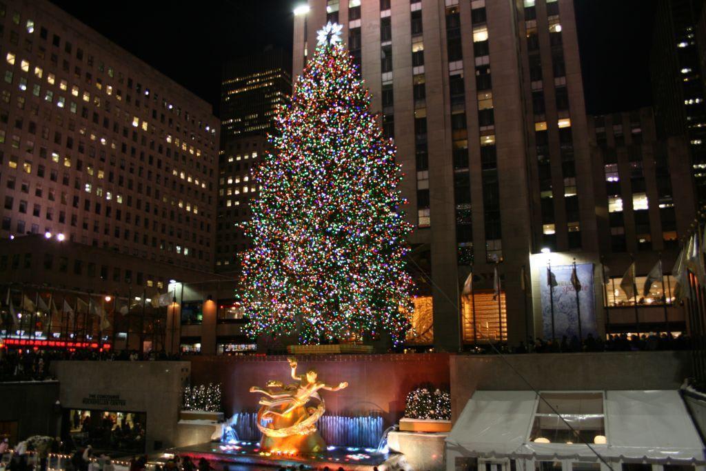 Weihnachtsbaum in new york manhattan