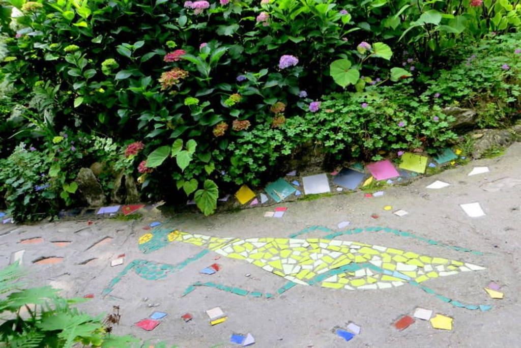 Bild Fußboden Mosaik Zu Botanischer Garten André Heller In Gardone