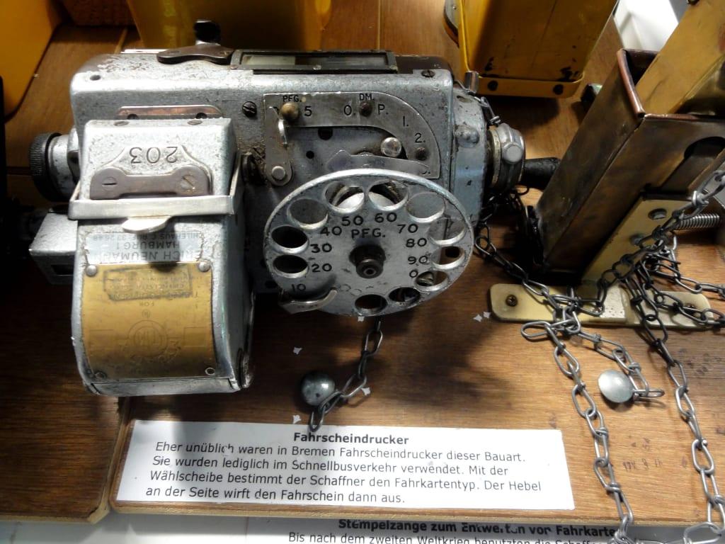 Bild Fahrscheindrucker Zu Straßenbahnmuseum Das Depot In Bremen
