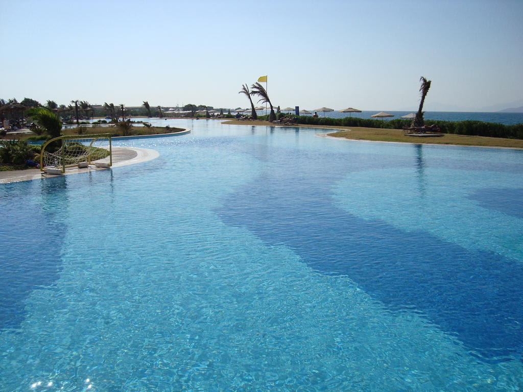 bild grosser pool am strand zu astir odysseus kos resort spa in tigaki. Black Bedroom Furniture Sets. Home Design Ideas