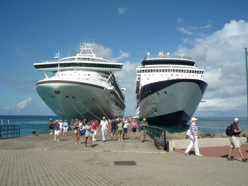 A breath away from huge cruise ship - Celebrity ...