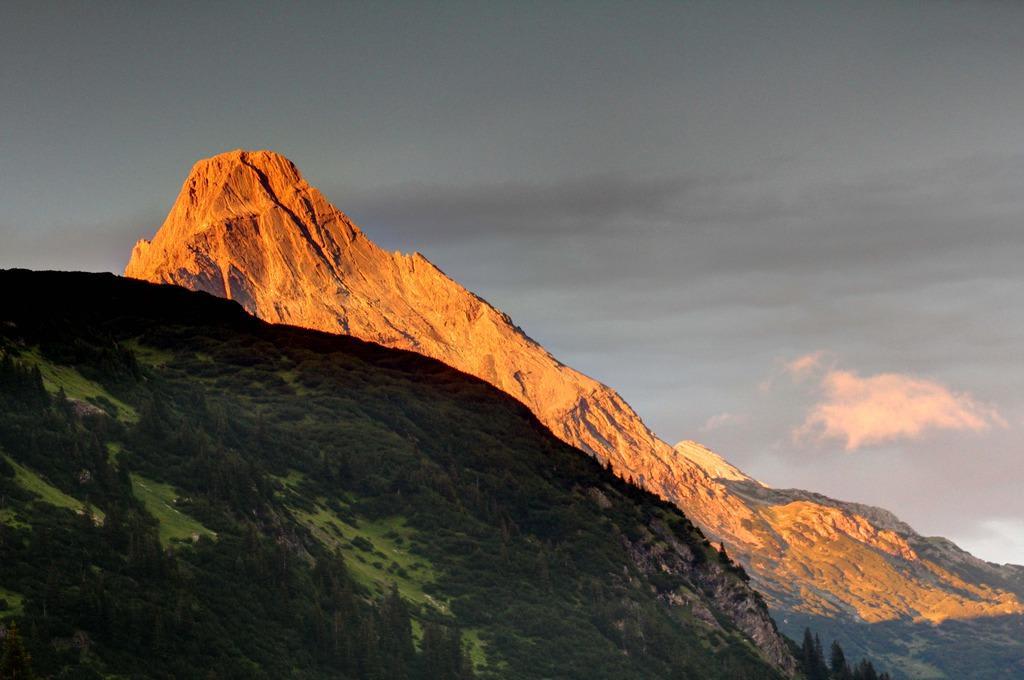 Alpenglühen Bilder Ausblick Ski- und Wanderhotel Jägeralpe