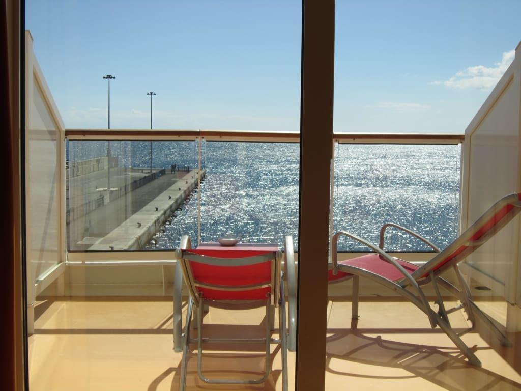 bild der sch ne gro e balkon zu aidabella in. Black Bedroom Furniture Sets. Home Design Ideas