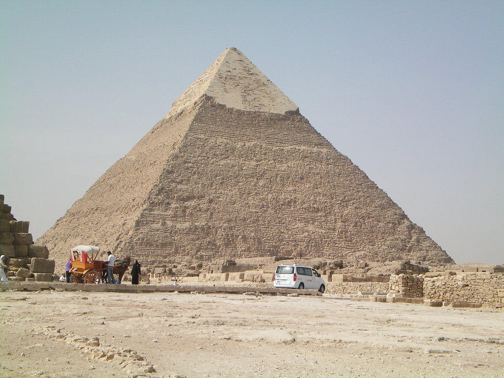 bild pyramide zu chephren pyramide in giza giseh. Black Bedroom Furniture Sets. Home Design Ideas