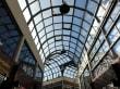 Die Glasdachkonstruktion des Lambertihofes