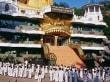 Dambulla - Tempelanlagen des Höhlentempels.