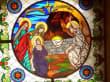 Eingangsschiebetür zur Kreuzkirche