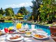 Frühstück auf der Terrasse - Hotel Feldhof