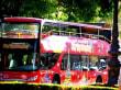 Die berühmten Busse oben offen