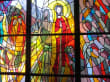 Glasfenster der Rosenkranz-Kirche in Portoroz