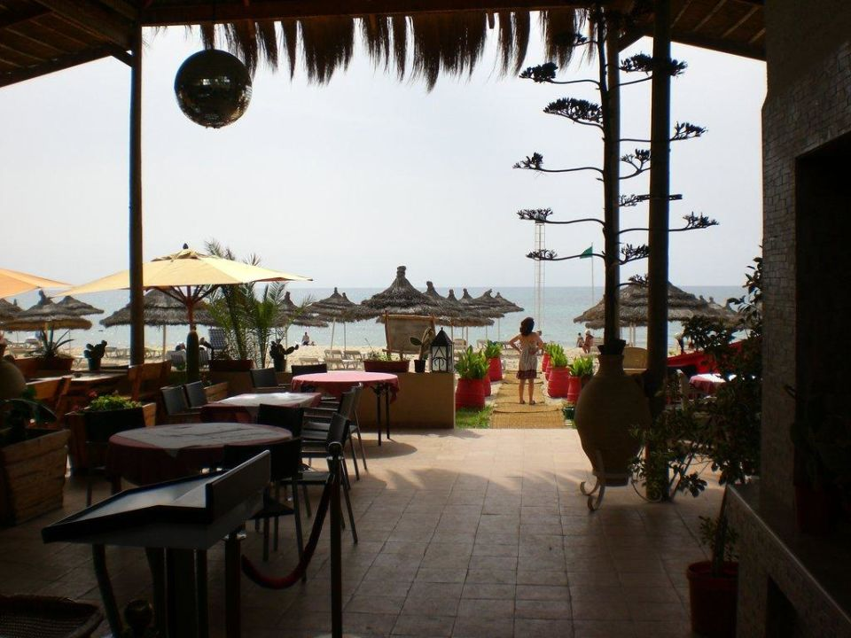 Ausblick Balkon zum Pool ebenerdig Hotel Royal Nozha