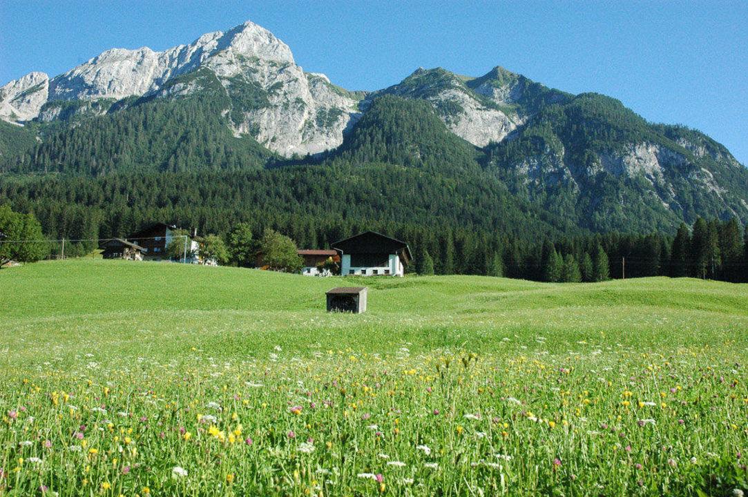 Wodmaier, eingebetten von der Plenge Hotel Alpenhof Wolayersee