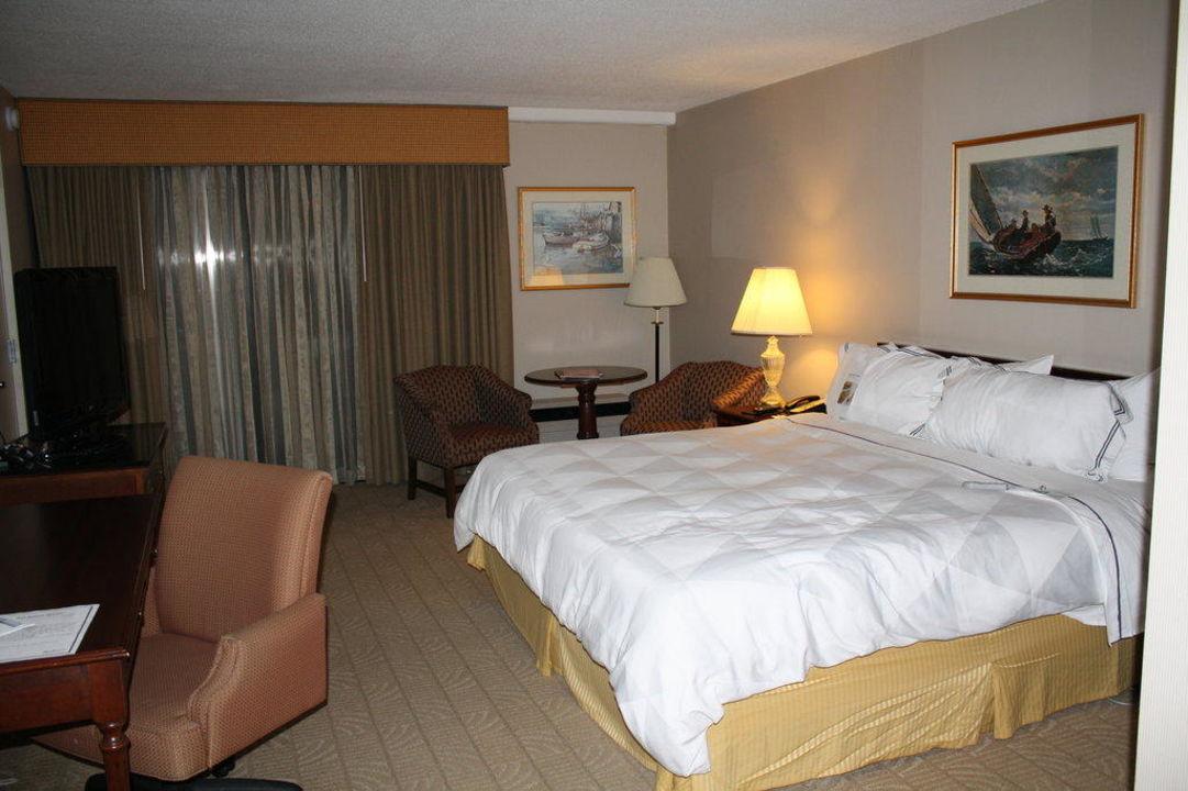 Ausblick vom Zimmer auf die Hotelterrasse Revere Hotel Boston