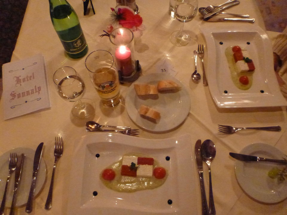 Vegetarischer Hauptgang Hotel Sonnalp
