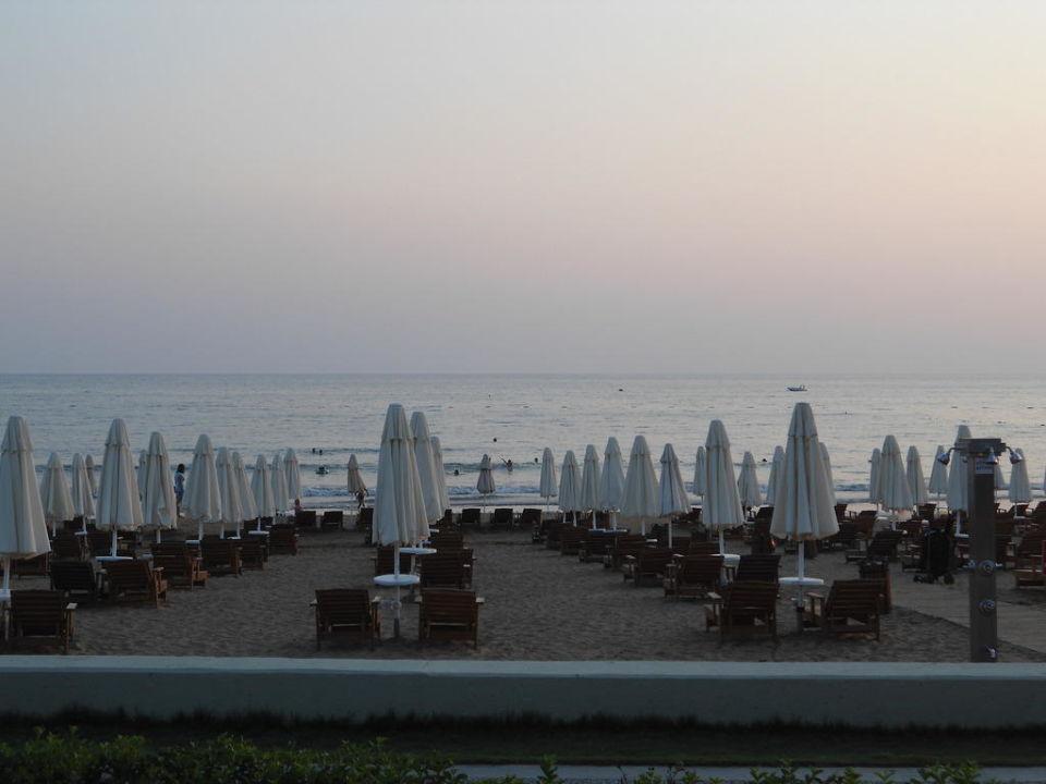Blick zum Strand Hotel Nerton
