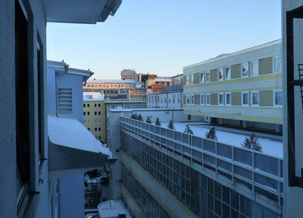 Blick aus dem Hotelfenster Hotel Dolomit