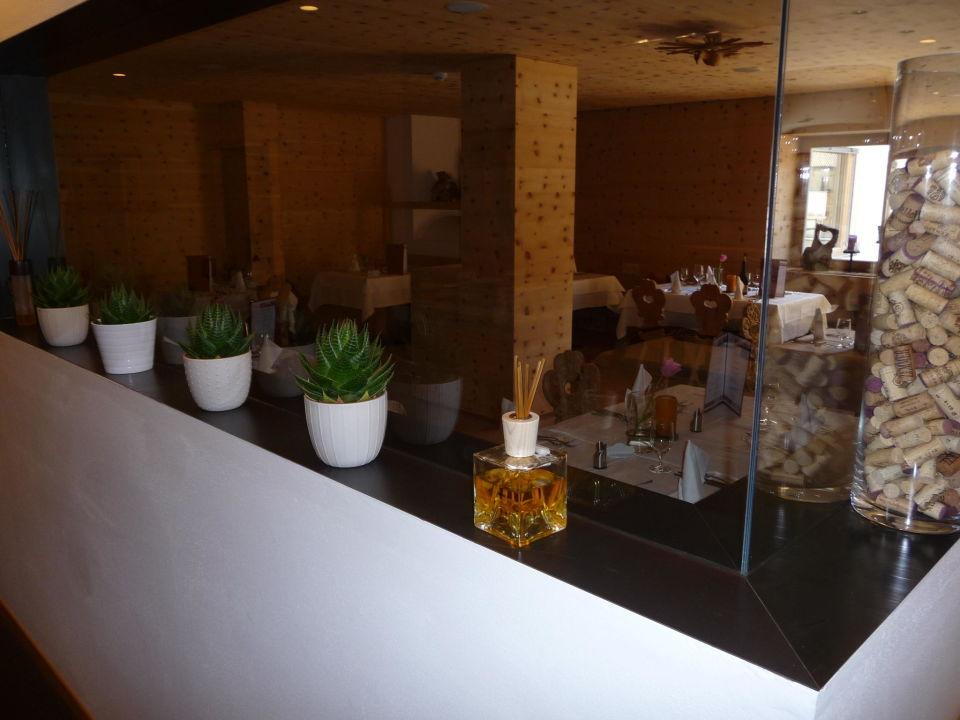 Teil des Restaurant Hotel Valserhof