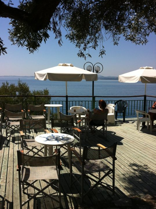 A view from the beach bar Hotel Nautilus Barbati