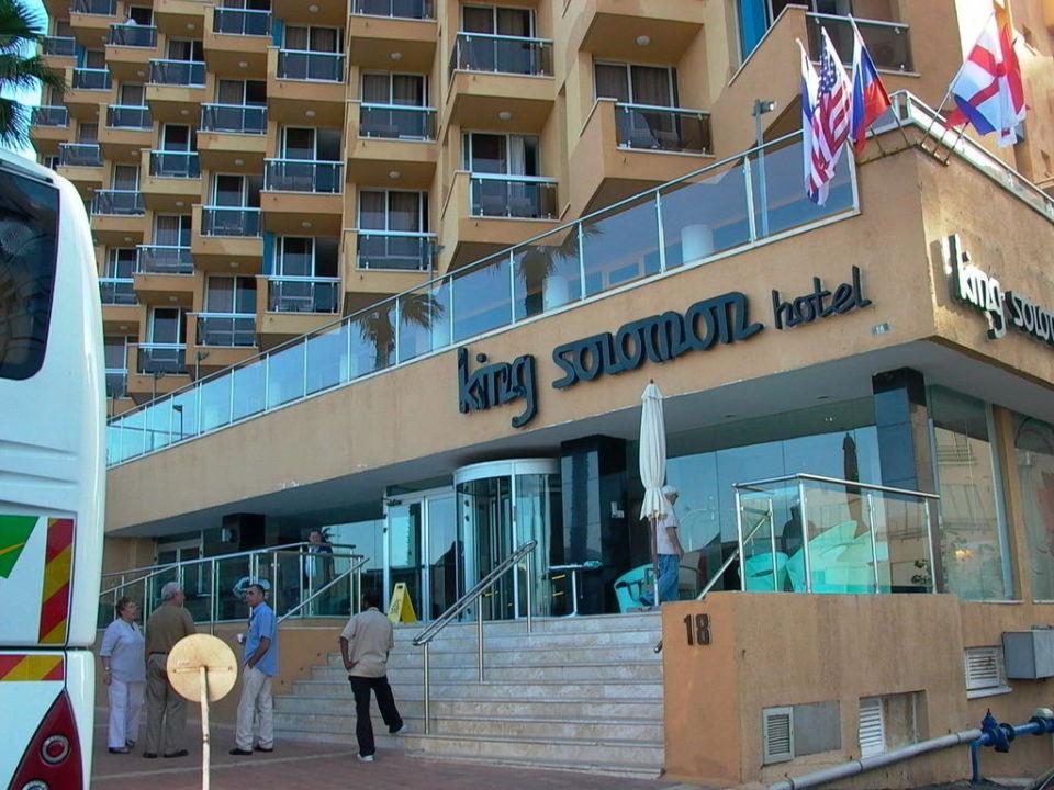 Blick zum Mittelmeer Hotel King Solomon