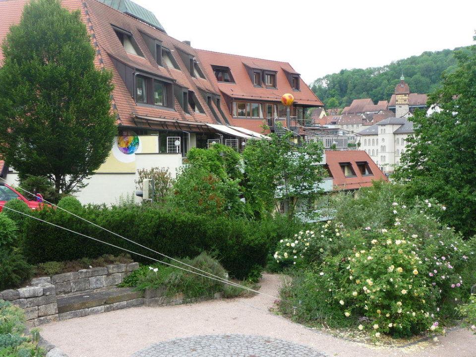 Das Aussenbecken vom Solebad Ringhotel Hohenlohe
