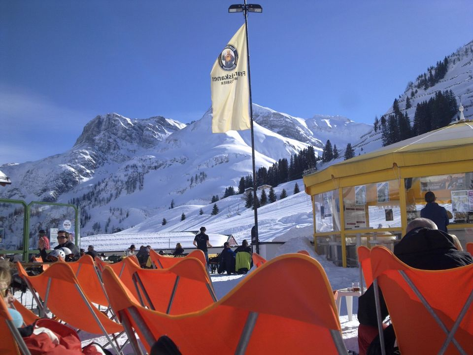 Skifahren in Warth Hotel Post Steeg