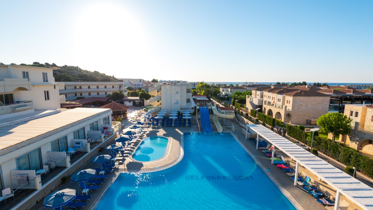Delfinia resort kolymbia holidaycheck rhodos for Top hotels griechenland
