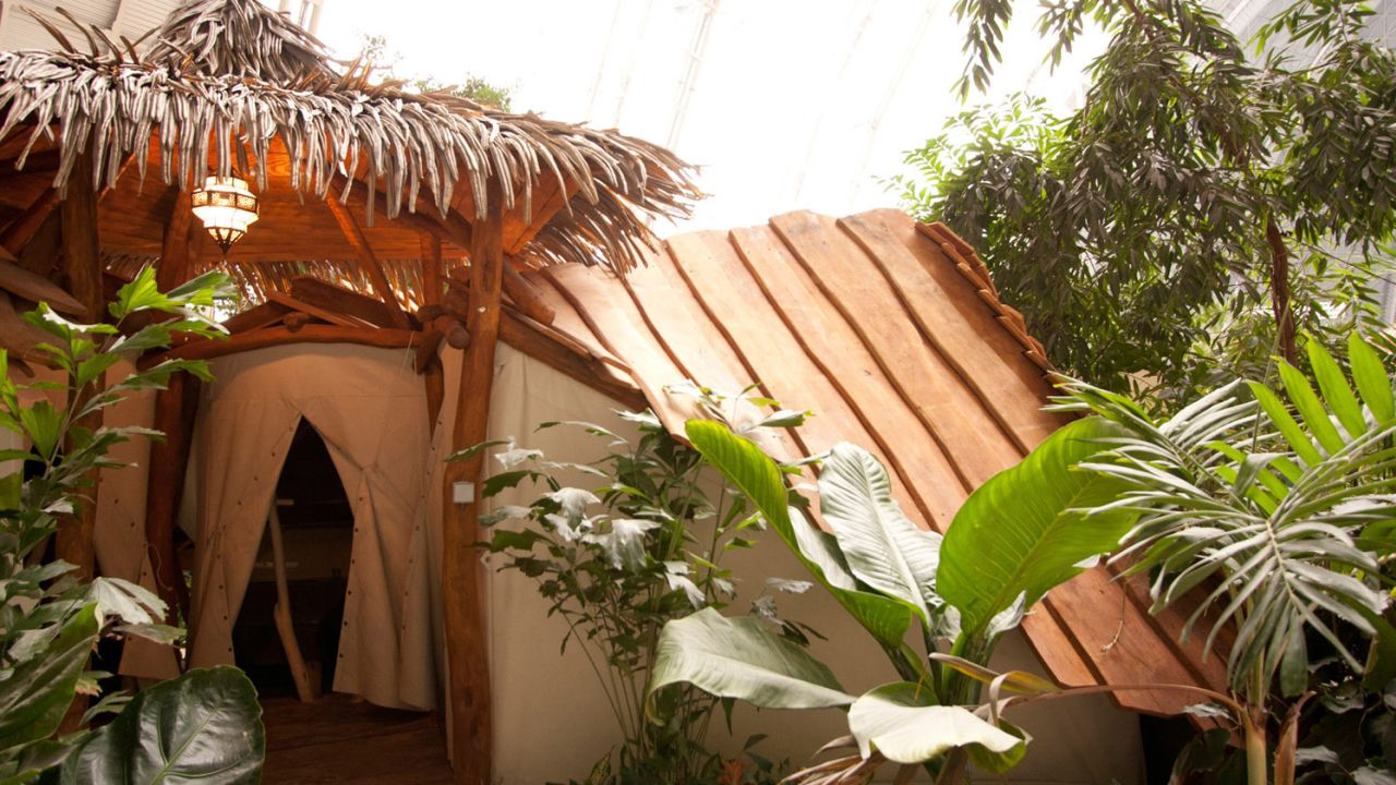 tropical island im zelt schlafen
