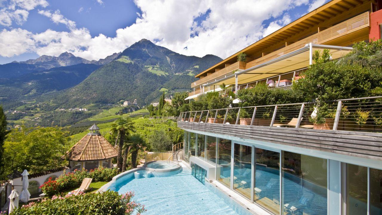 Spa relax hotel erika in tirolo dorf tirol for Design hotel dorf tirol