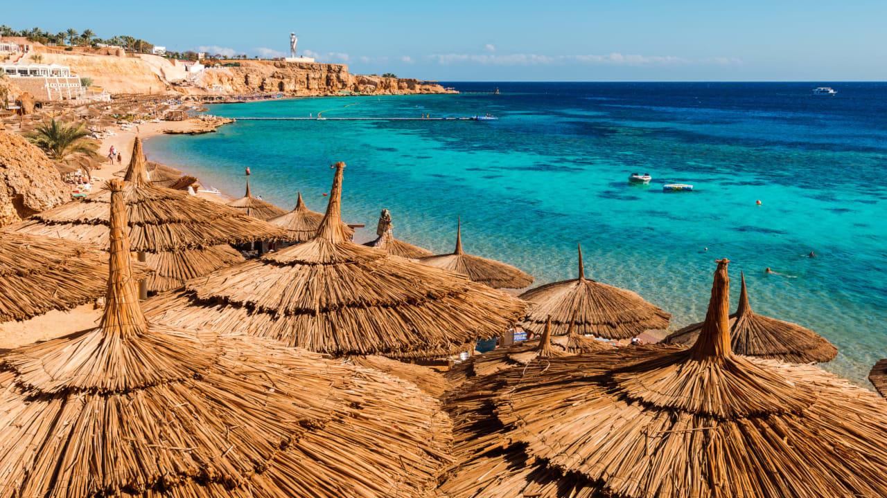 Strand Sharm-El-Sheikh, Sinai, Ägypten