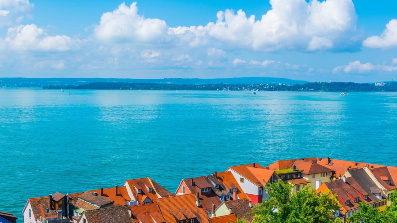 Blick über Meersburg, Bodensee, Deutschland