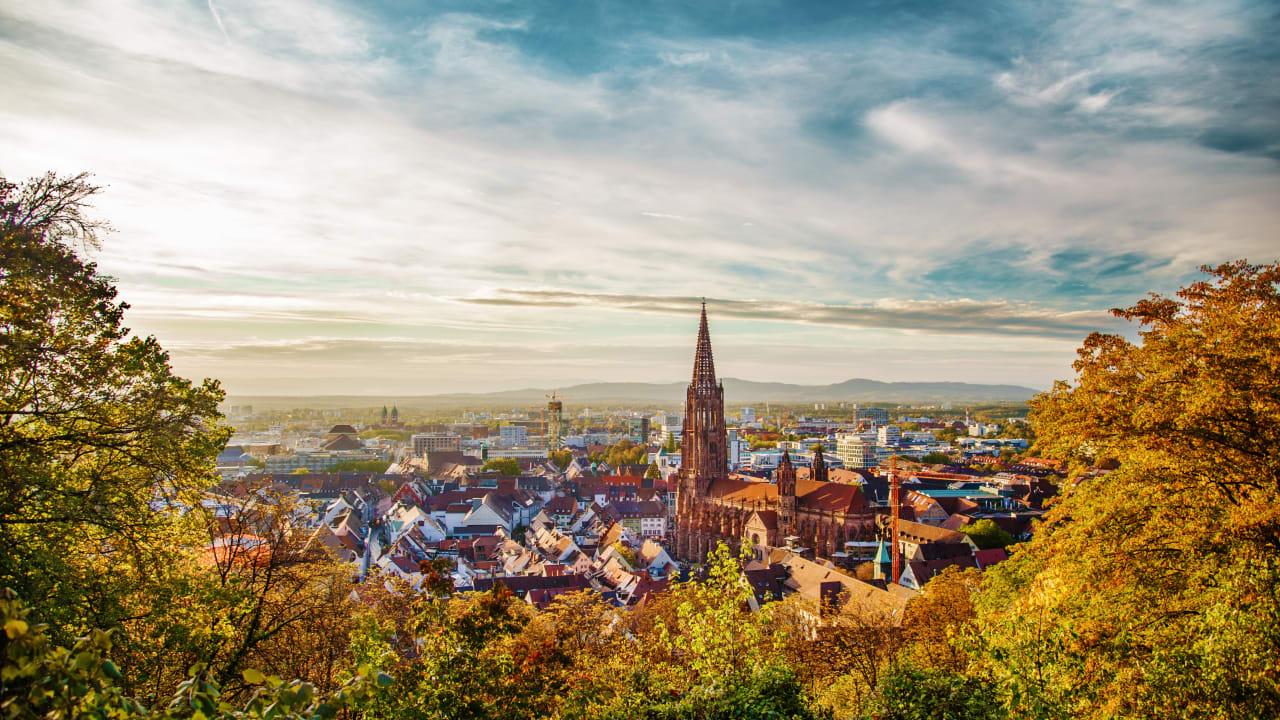 Stadt Freiburg im Breisgau, Schwarzwald, Deutschland