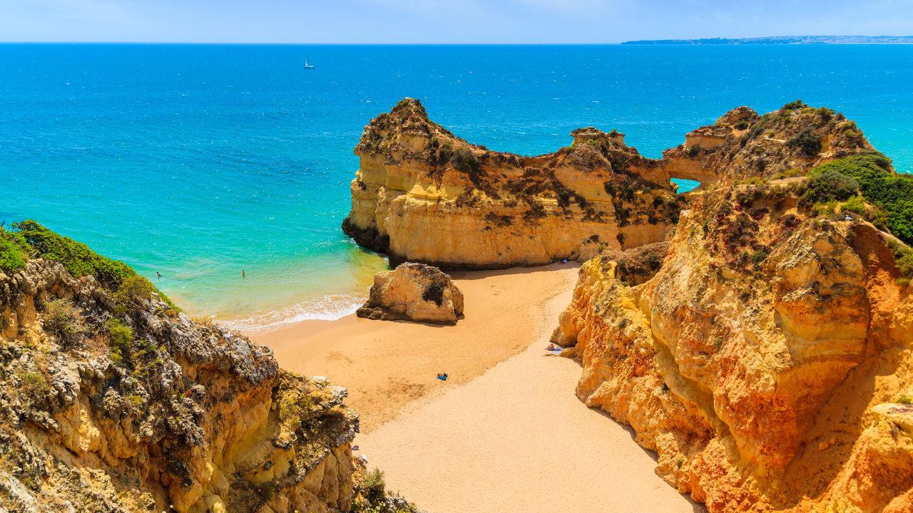 Strand Praia de Alvor, Algarve, Portugal