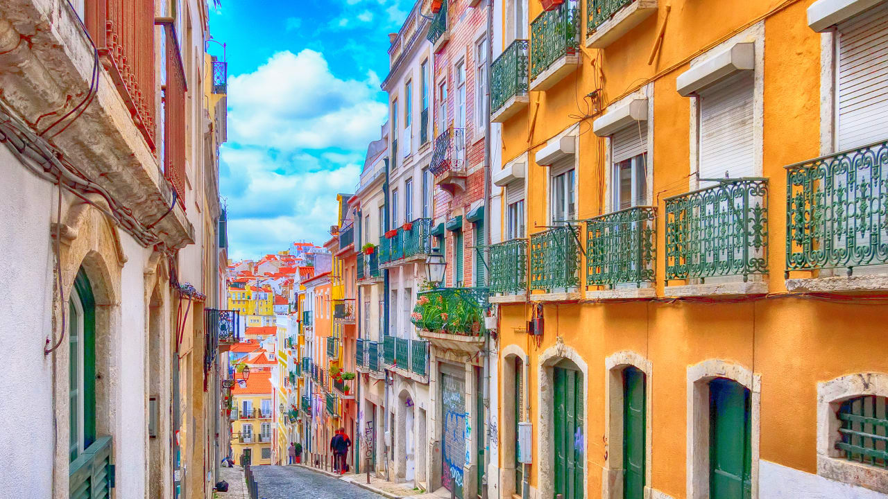 Straße in Lissabon, Portugal