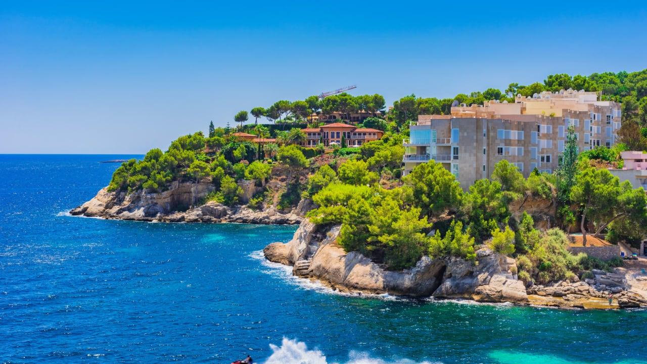 Küste von Cala Vinyes, Mallorca, Spanien